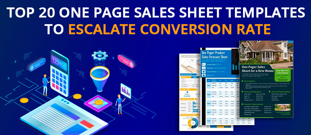Top 20 One Page Sales Sheet Templates to Escalate Conversion Rate