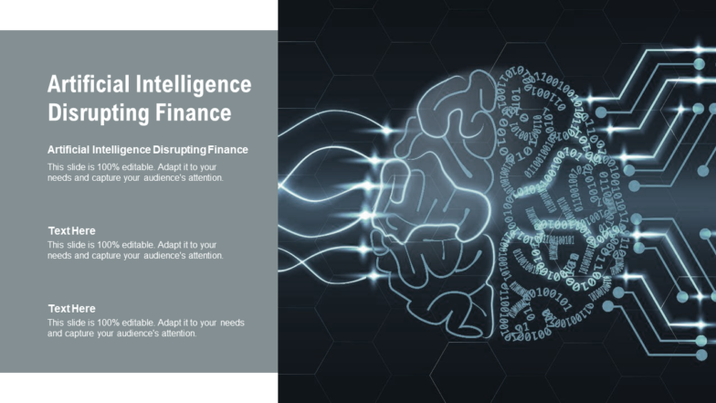 Artificial Intelligence Disrupting Finance PPT PowerPoint Presentation