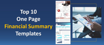 Top 10 One Page Financial Summary PowerPoint Templates to Help You Track Business Finances!