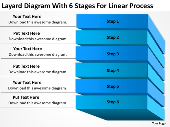 Business Entity Diagram 6 Stages For Linear Process