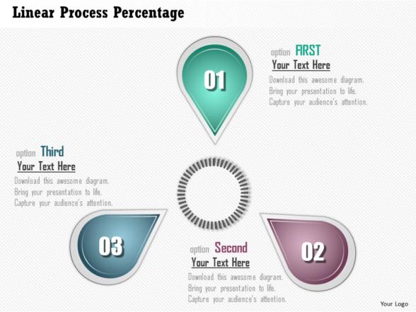 Business Plan Linear Process Percentage PowerPoint Presentation