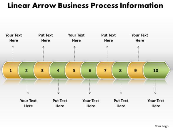 Business PowerPoint Templates linear arrow process information Sales