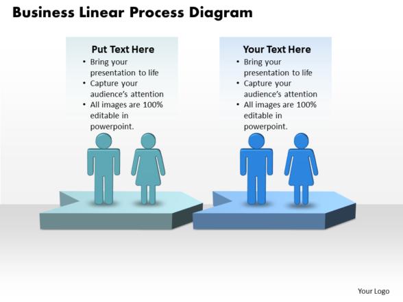 Business PowerPoint Templates linear process diagram Sales