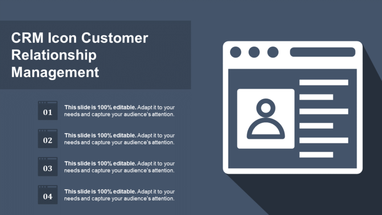 CRM Icon Customer Relationship Management