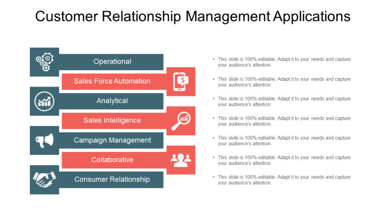 Customer Relationship Management Applications PowerPoint Slide Themes