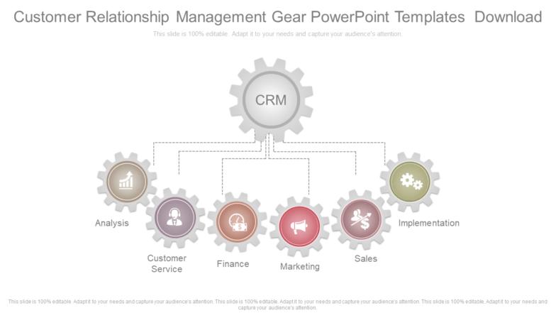 Customer Relationship Management Gear PowerPoint Templates Download