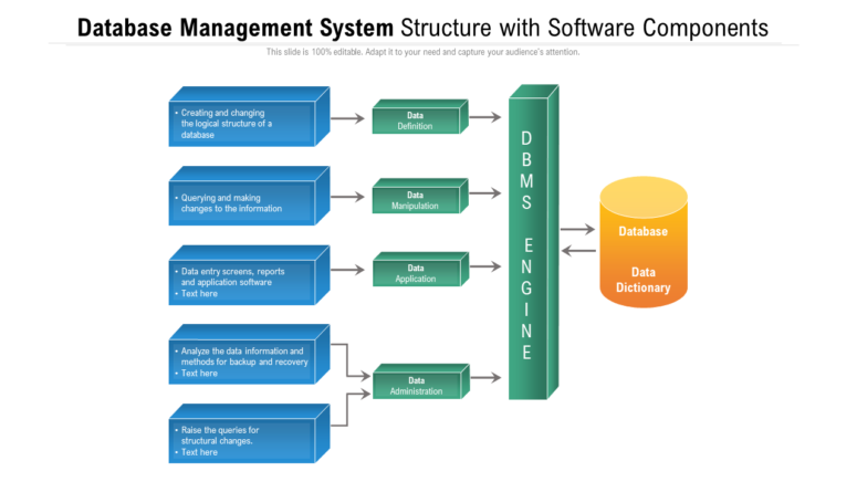 Database Management System Structure With Software Components