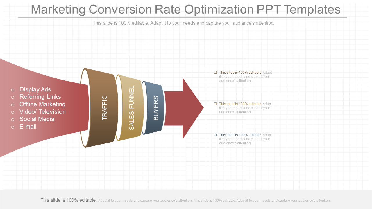 Different Marketing Conversion Rate Optimization PPT