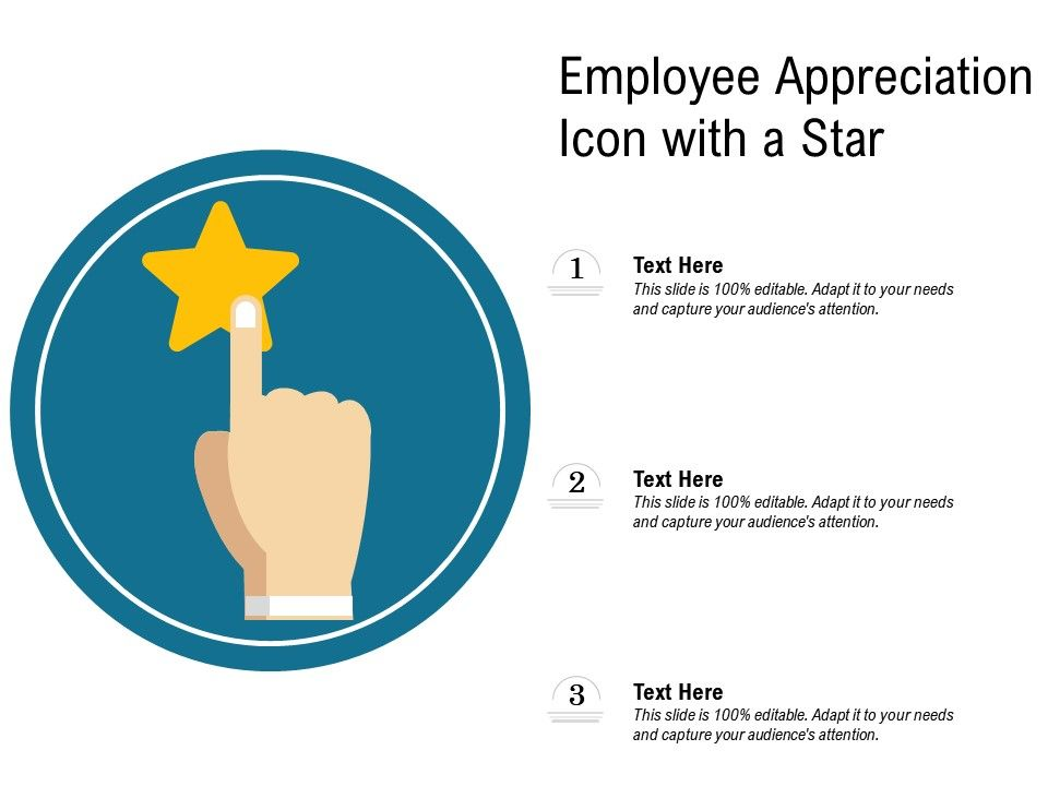 Employee Appreciation Icon With A Star