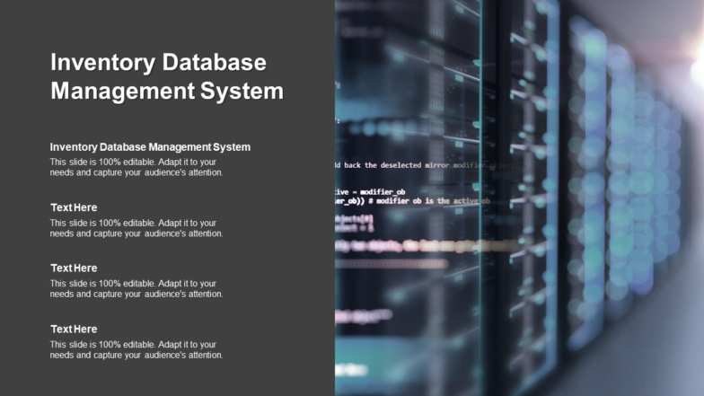 Inventory Database Management System PPT PowerPoint Presentation