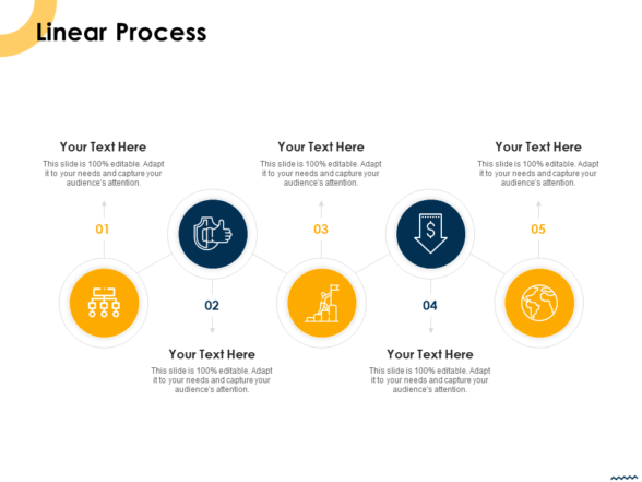 Linear Process PPT PowerPoint Presentation Infographic