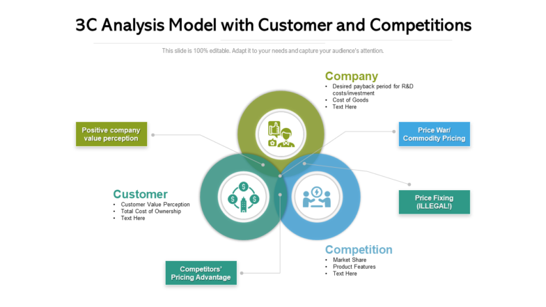 3c Analysis Model With Customer And Competitions