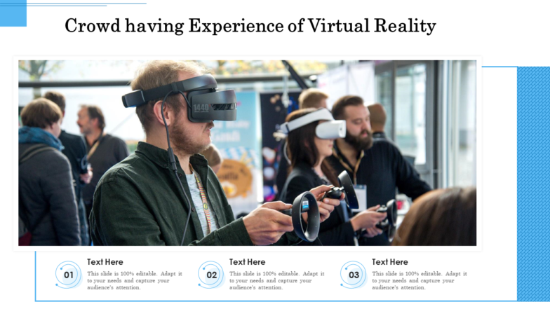 Crowd Having Experience Of VR