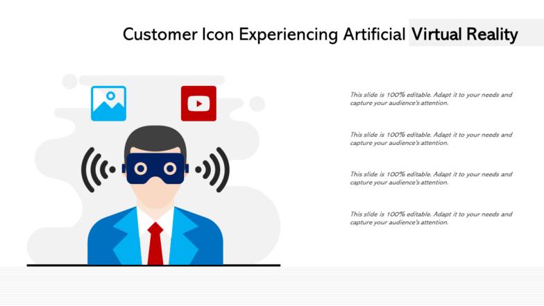 Customer Icon Experiencing Artificial Virtual Reality