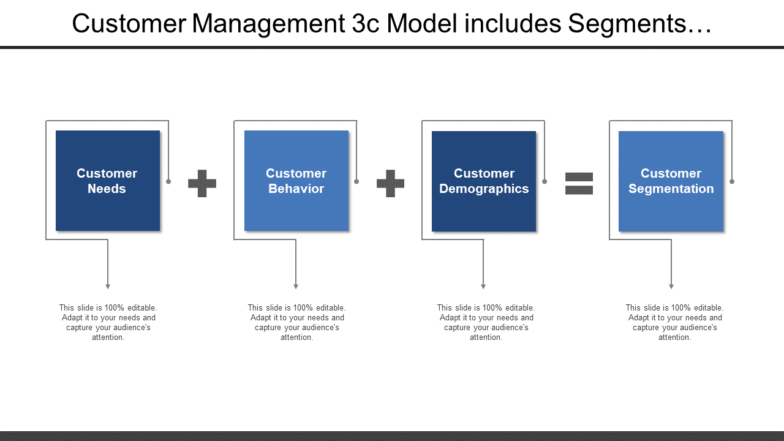 Customer Management 3C Model Includes Segments