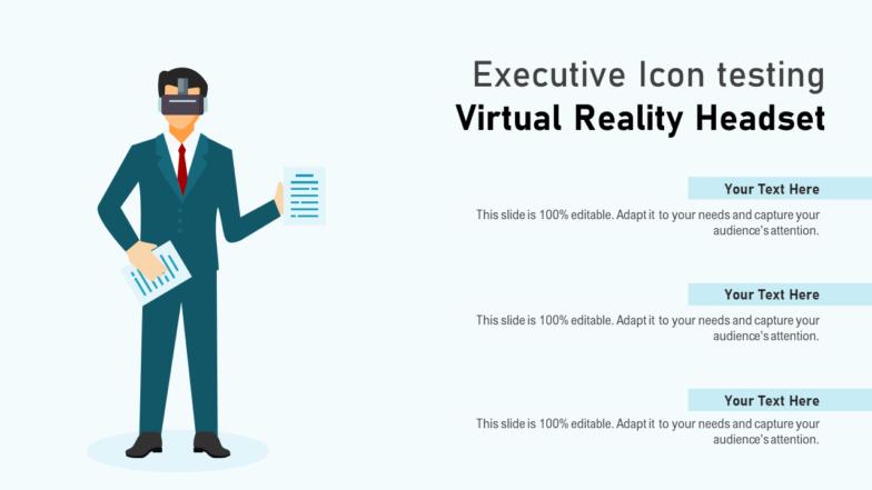 Executive Icon Testing Virtual Reality Headset