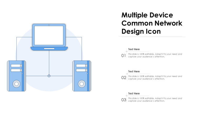 Multiple Device Common Network Design Icon