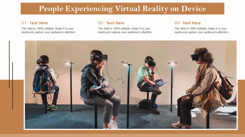 People Experiencing Virtual Reality On Device