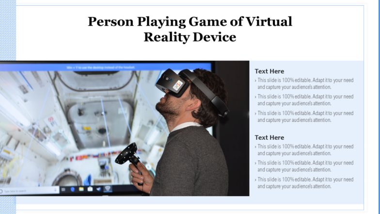 Person Playing Game Of Virtual Reality Device