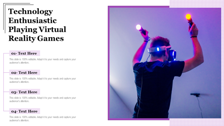Technology Enthusiastic Playing Virtual Reality Games