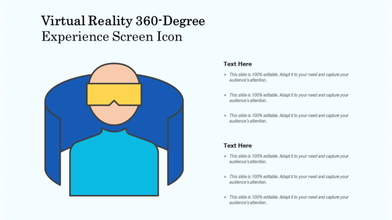 VR 360 Degree Experience Screen Icon