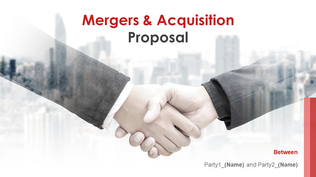 Mergers And Acquisition Proposal PowerPoint Presentation