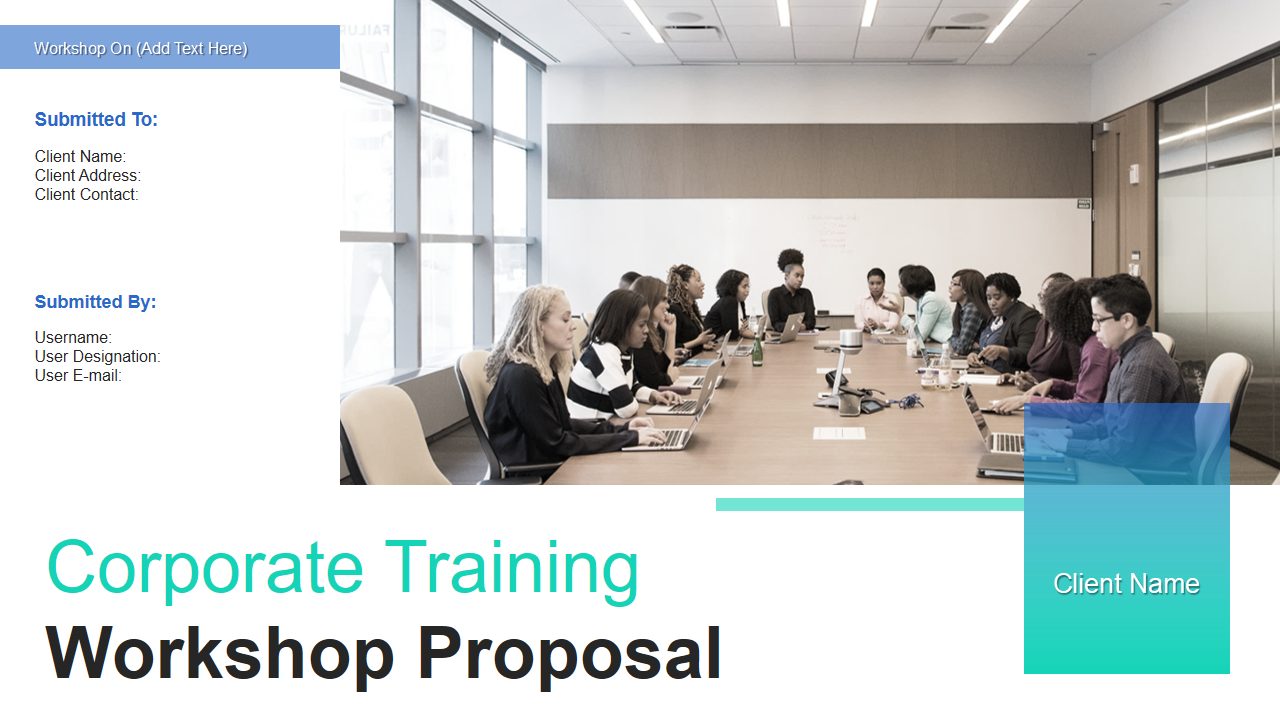 Corporate Training Workshop Proposal