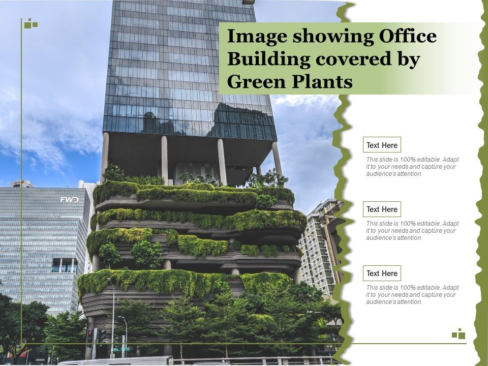 Image Showing Office Building Covered By Green Plants