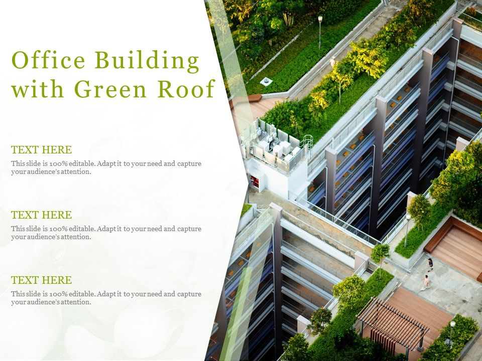 Office Building With Green Roof