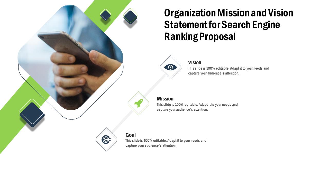Organization Mission And Vision Statement PowerPoint Slides