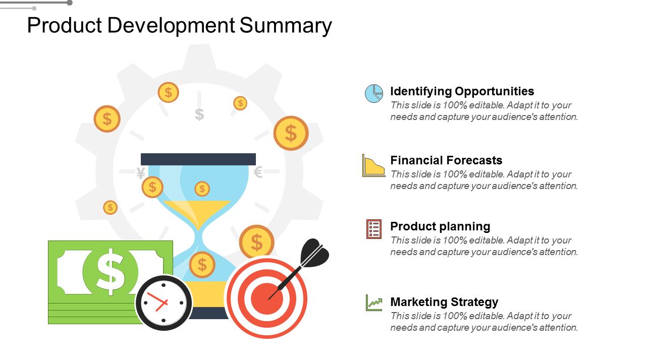 Product Development Summary PowerPoint Slides