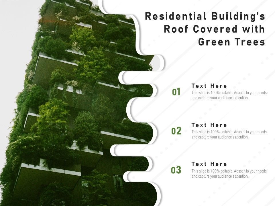 Residential Buildings Roof Covered With Green Trees