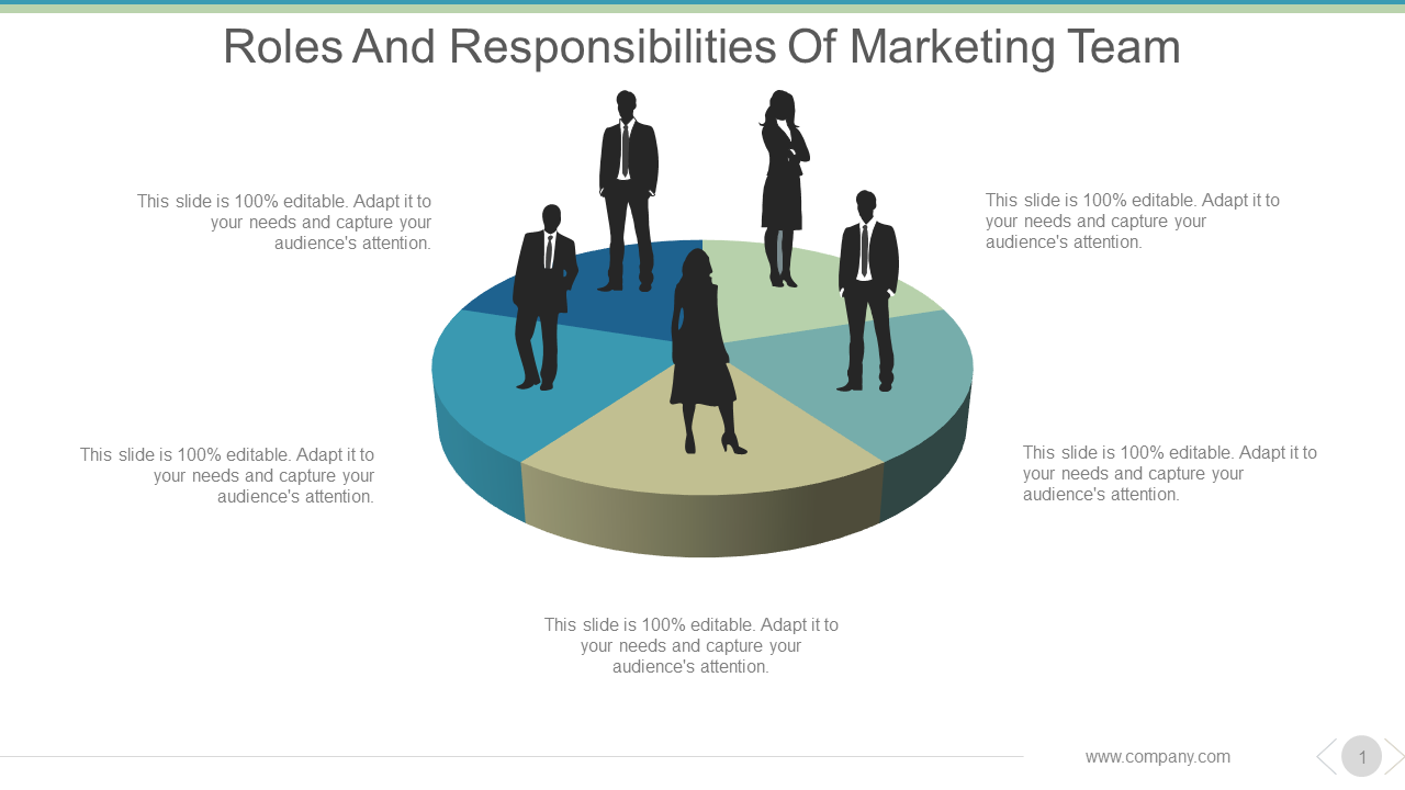 Roles And Responsibilities Of Marketing Team PowerPoint Slides
