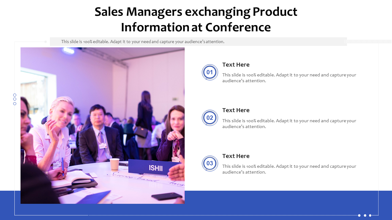 Sales Managers Exchanging Product Information At Conference