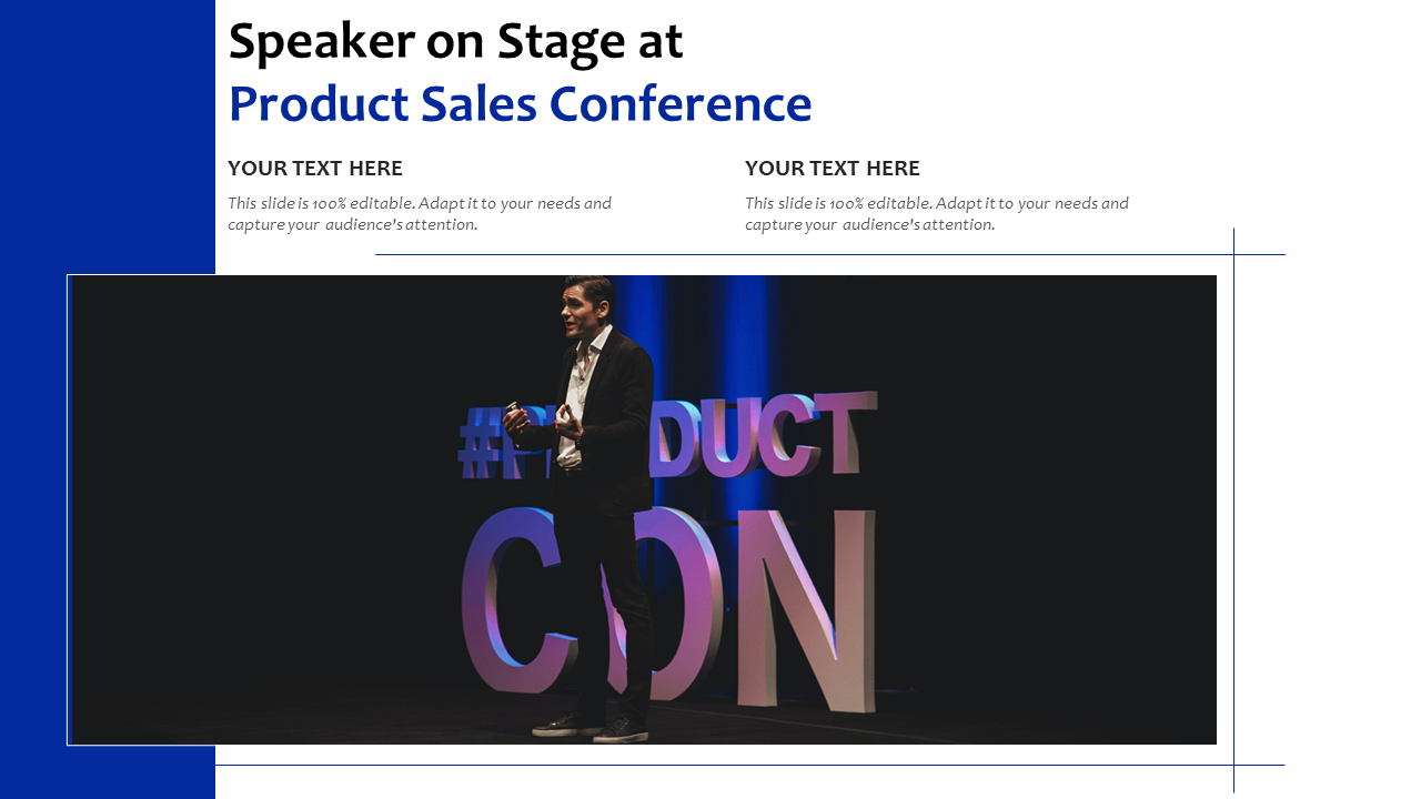 Speaker On Stage At Product Sales Conference