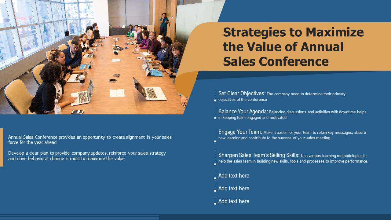 Strategies To Maximize The Value Of Annual Sales Conference