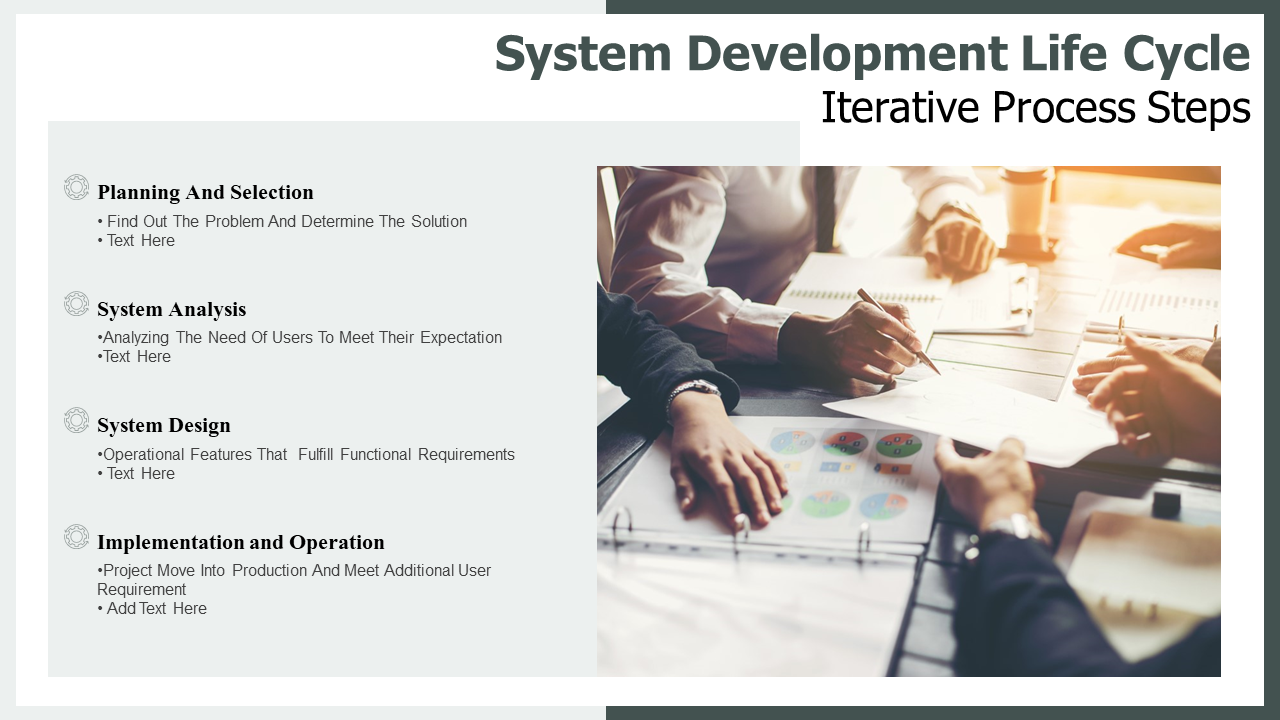 System Development Life Cycle Iterative Process