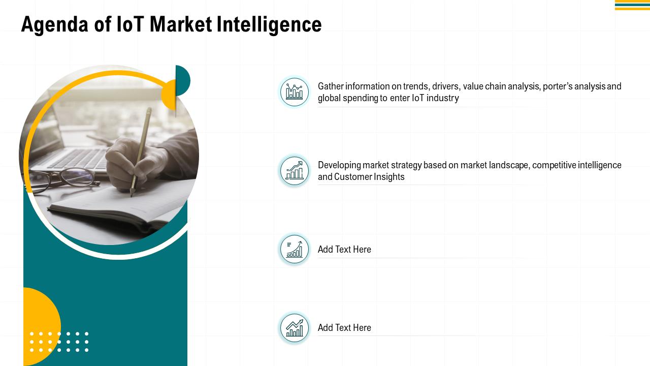 Agenda Of IOT Market Intelligence PPT