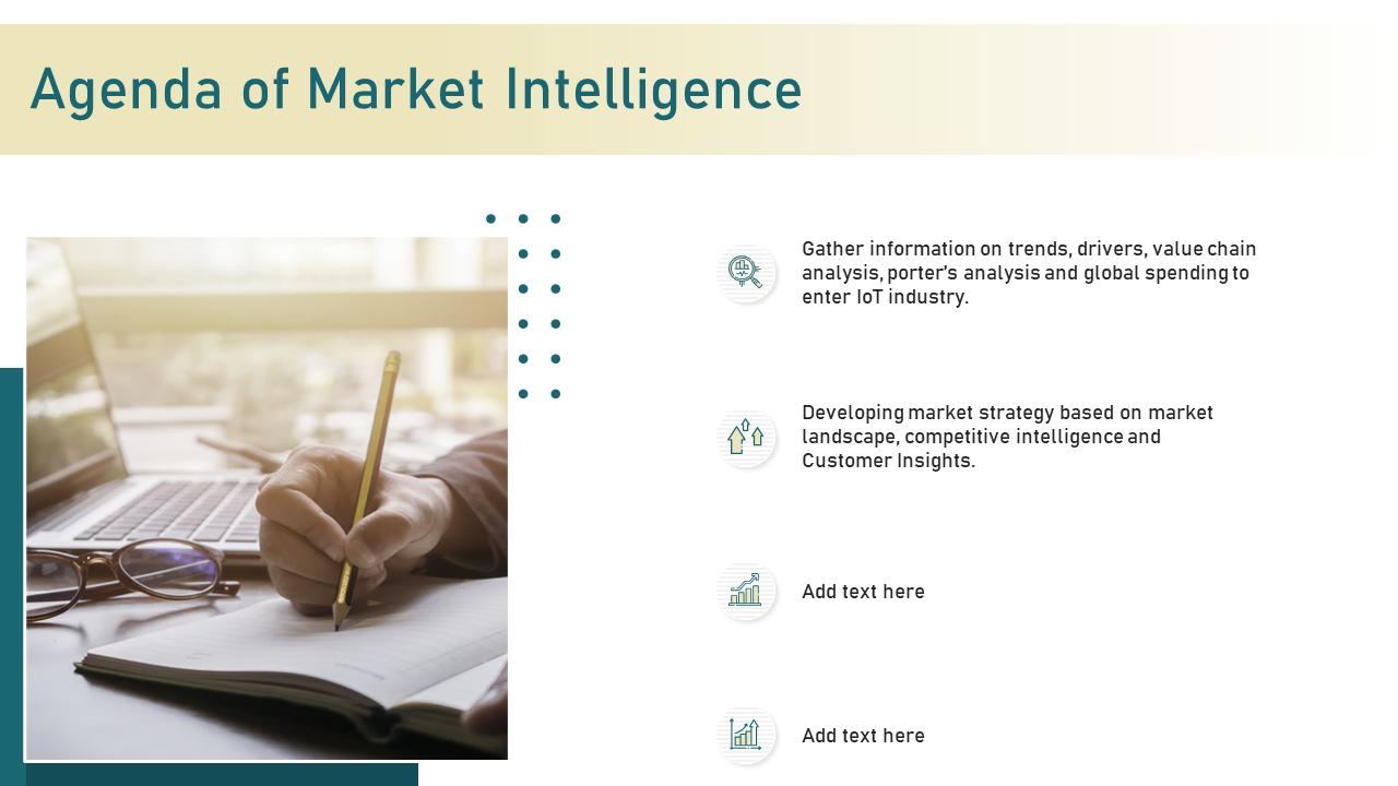 Agenda Of Market Intelligence Based PPT