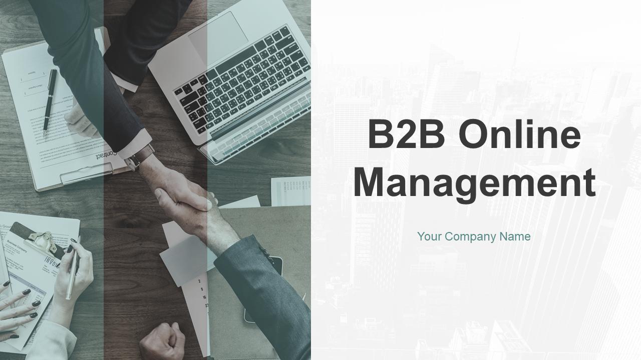 B2B Online Management PowerPoint Presentation Slides