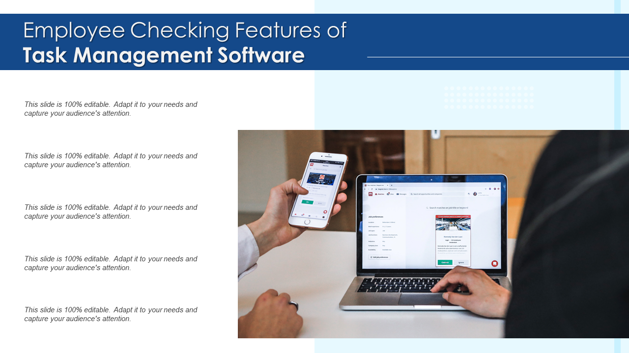 Employee Checking Features Of Task Management Software