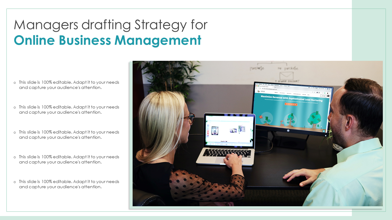 Managers Drafting Strategy For Online Business Management