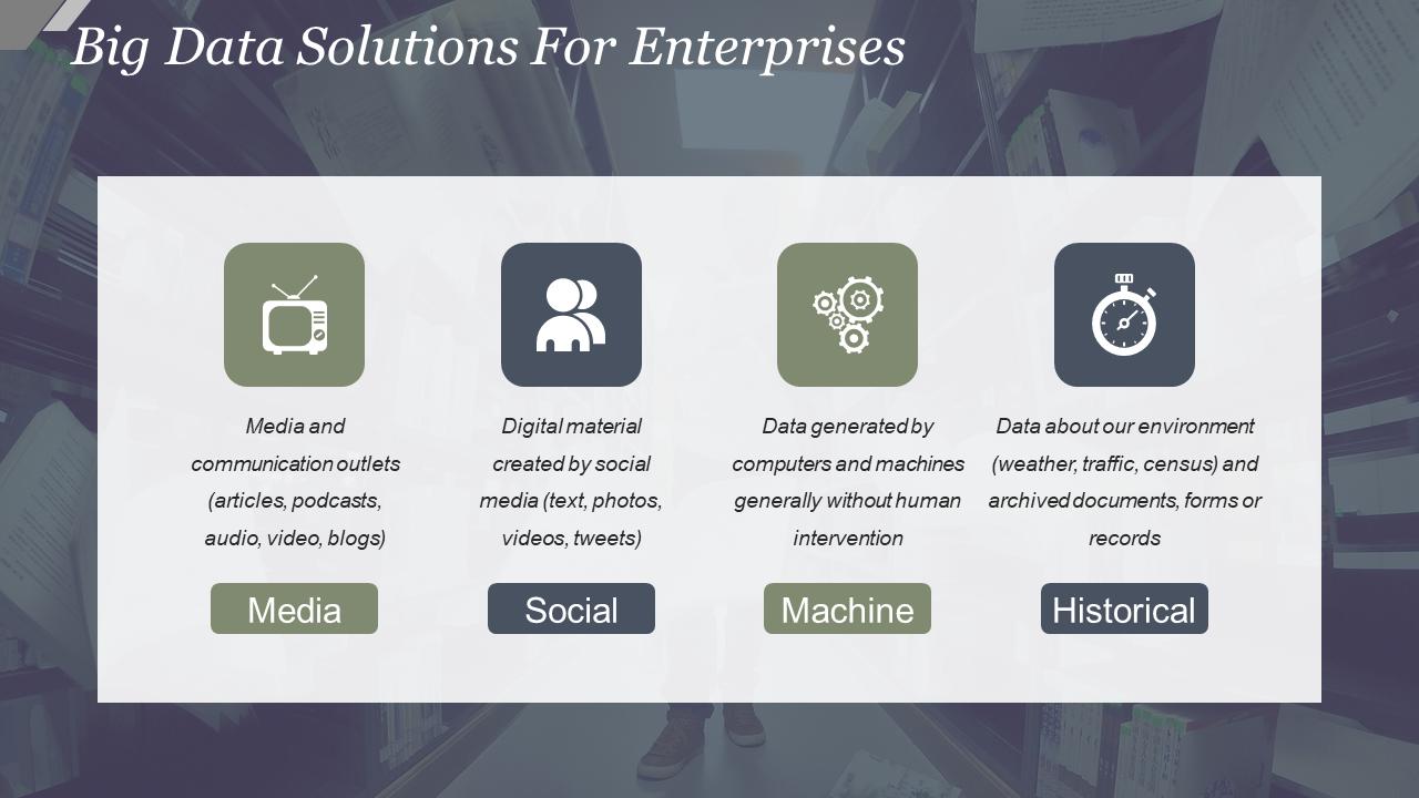 Big Data Solutions For Enterprises PowerPoint Template