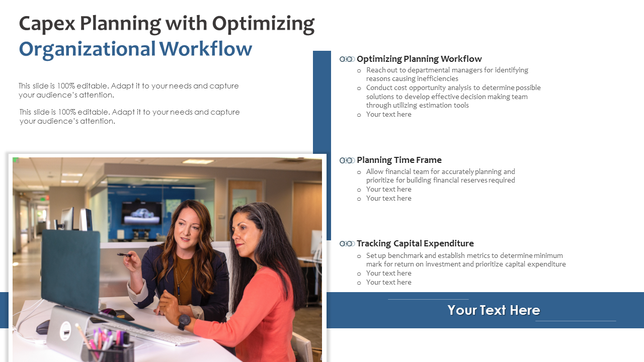 Capex Planning With Optimizing Organizational Workflow PowerPoint Slides