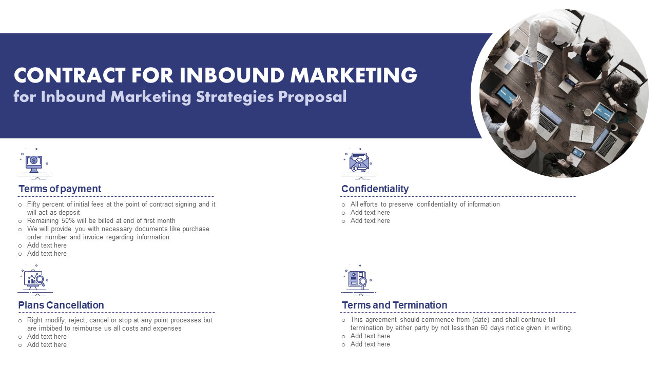 Contract For Inbound Marketing Template