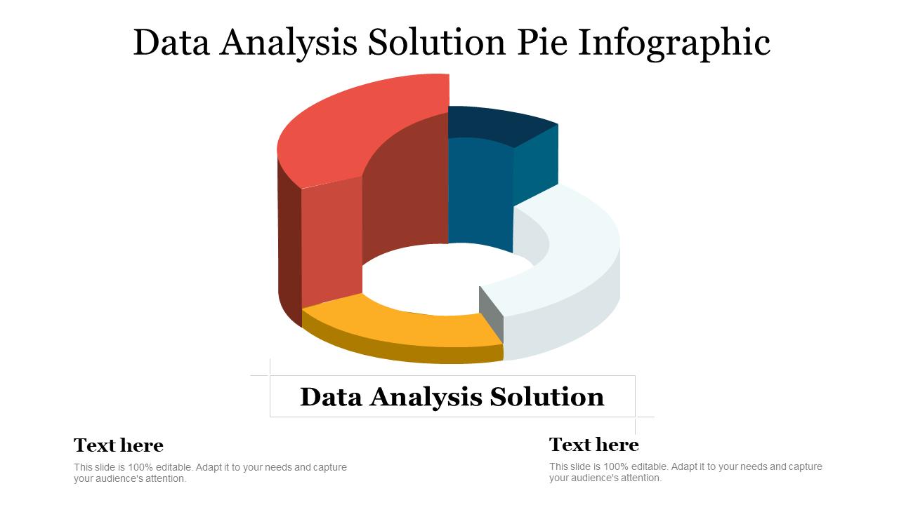 Data Analysis Solution Pie Infographic