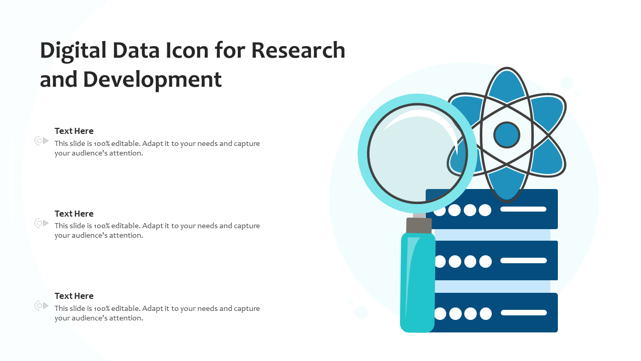 Digital Data Icon For Research And Development