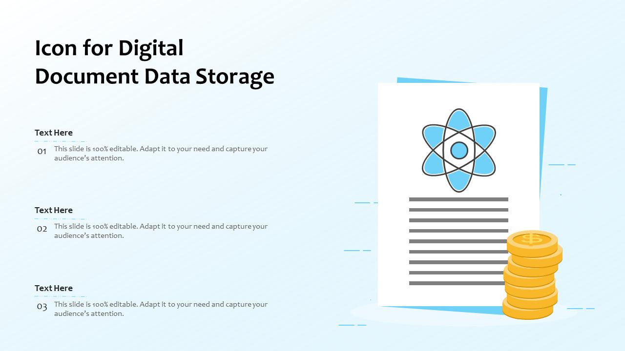Digital Document Data Storage Template