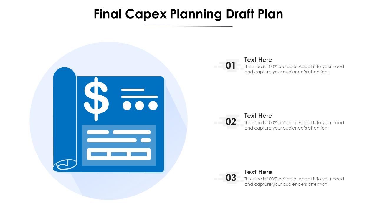 Final Capex Planning Draft Plan PowerPoint Presentation Slides