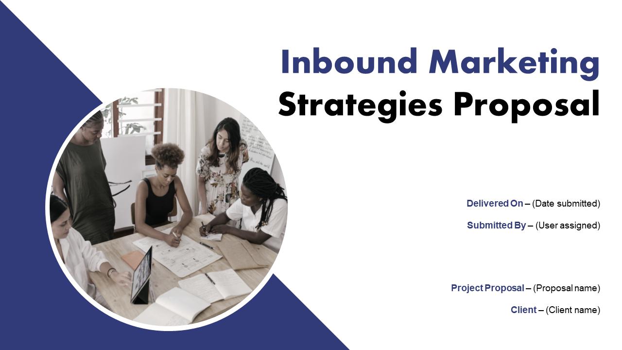 Inbound Marketing Strategies Proposal Template